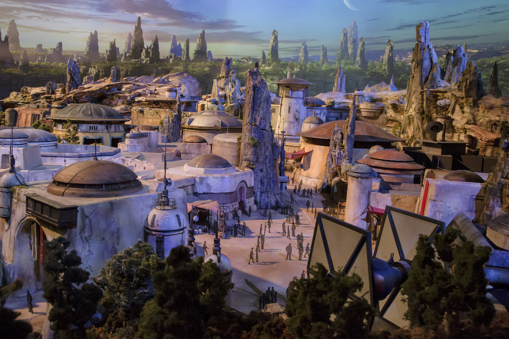 A drawing of Star Wars: Galaxy's Edge new theme land