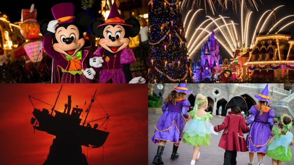h2o glow nights at disneys typhoon lagoon water park as well as mickeys not so scary halloween parties and mickeys very merry christmas parties at