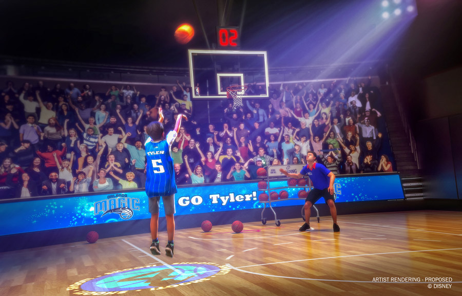 NBA Experience rendering of basketball game