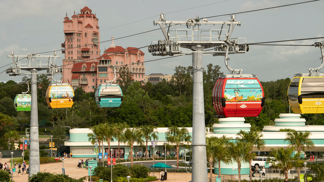 Skyliner Buckets in the air near Hollywood Studios