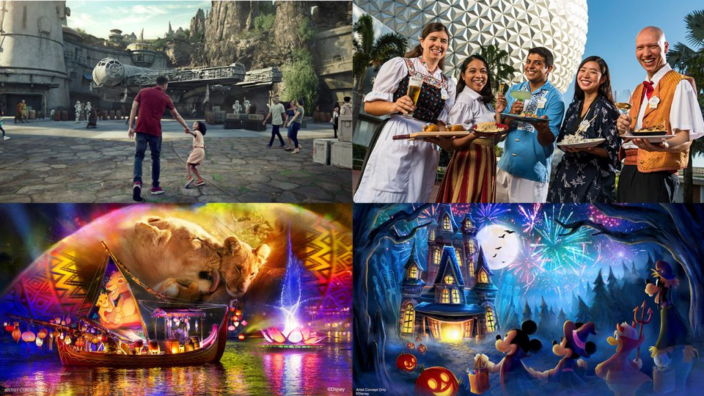 Star Wars new entry, Epcot Food and Wine Group, River's of Light artwork, and Mickey's Not So Scary Halloween Party rendering
