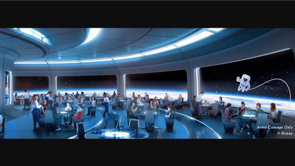 Space Theme restaurant rendering