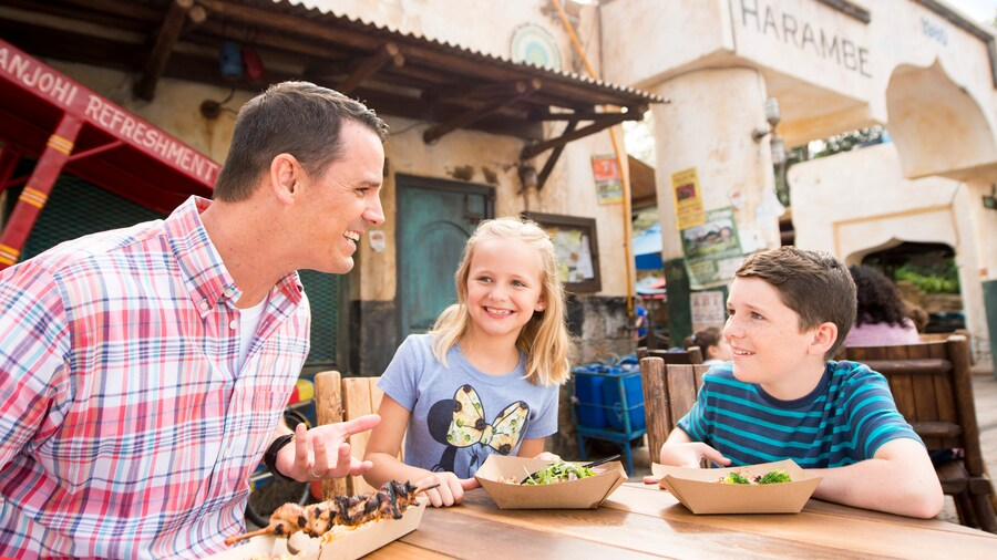 Walt Disney World Resort Quick Service Mealtime with Family