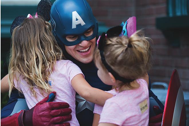 Captain America greeting Guests at Disneyland Resort