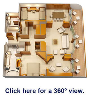 Disney Wonder 174 Staterooms Concierge Royal Suite